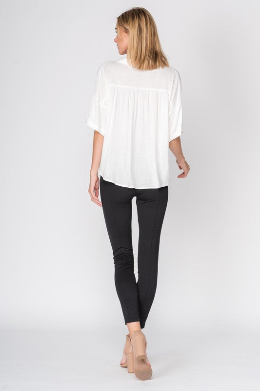 Oversized white blouse - Glow Fashion Boutique