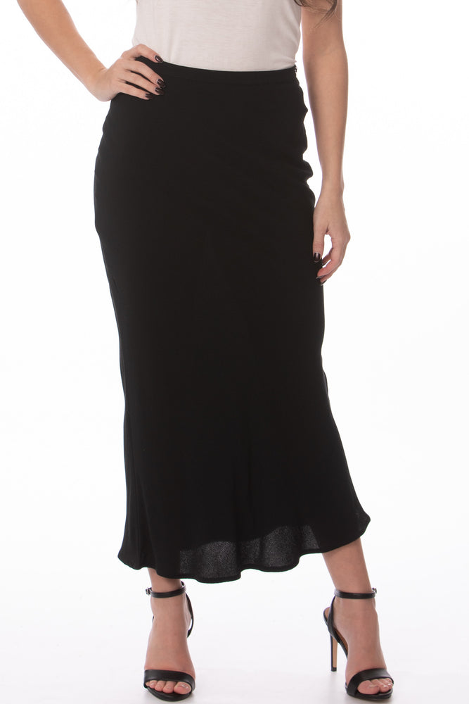Glow Fashion Boutique Black Midi Skirt