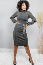 Glow Fashion Boutique Metallic Sweater Dress
