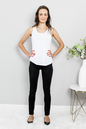 Load image into Gallery viewer, Basic White Soft Jersey Tank Glow Fashion Boutique