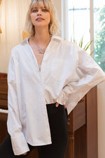 Crysta Oversized White Blouse