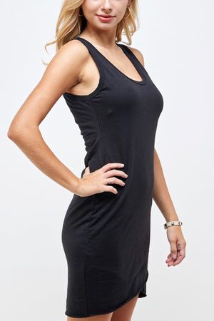 Tias Tank Ruched Layered Dress