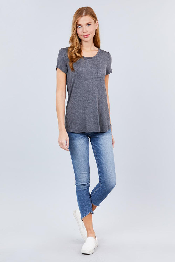 Load image into Gallery viewer, Glow Fashion Boutique Classic dark grey T-Shirt