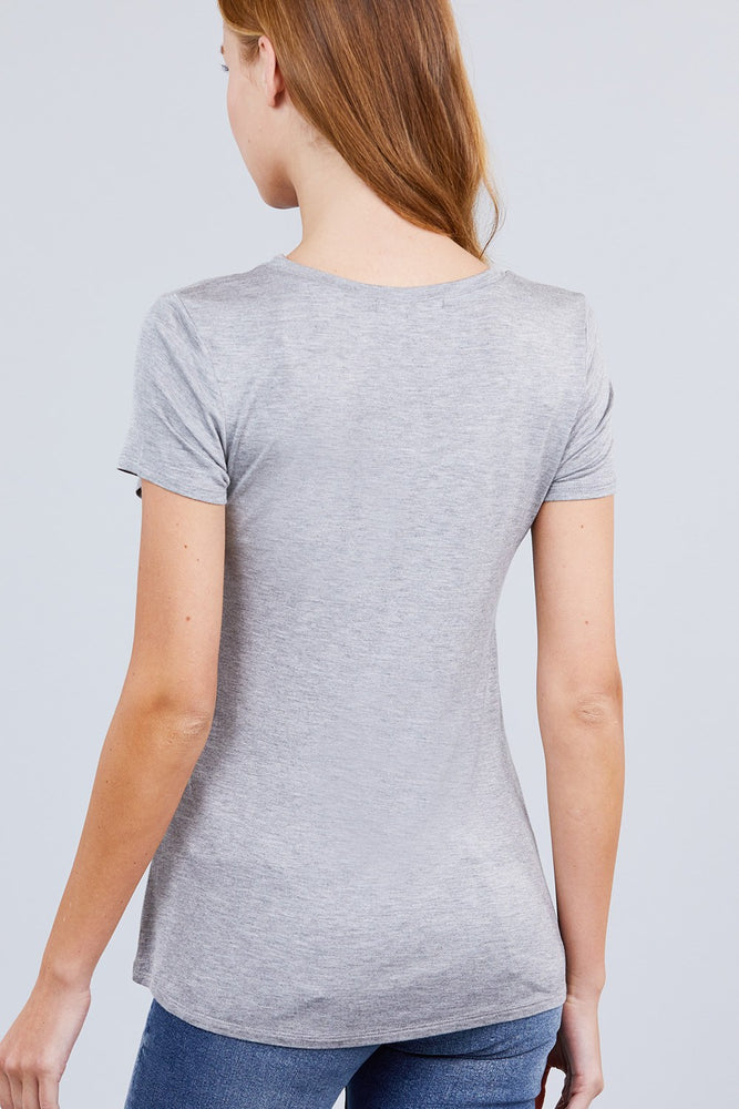 Load image into Gallery viewer, Glow Fashion Boutique Classic heather grey T-Shirt