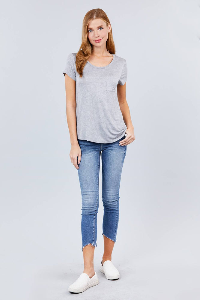 Load image into Gallery viewer, Glow Fashion Boutique basic grey T-Shirt