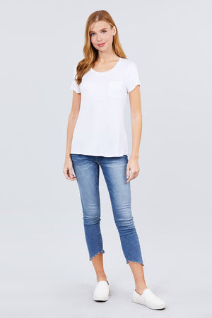 Load image into Gallery viewer, Glow Fashion Boutique Basic White T-Shirt
