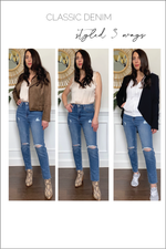 Glow Fashion Boutique high waisted relaxed fit jeans