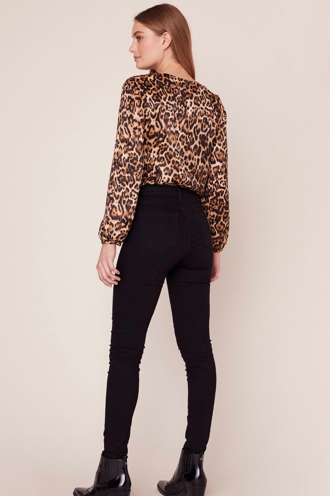 Load image into Gallery viewer, Glow fashion leopard print blouse Bodysuit