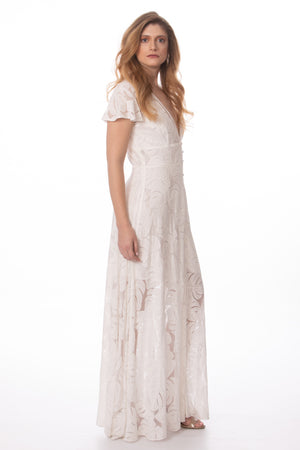 White Short Sleeve High Quality Maxi Dress Glow Fashion Boutique