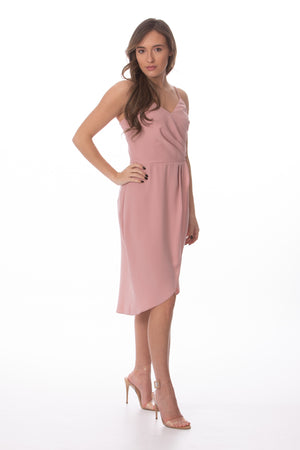 Load image into Gallery viewer, Blush Pink Tulip Dress Glow Fashion Boutique