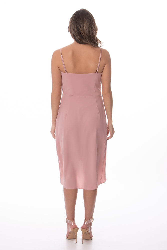 Blush Pink Sleeveless Wedding Guest Dress Glow Fashion Boutique
