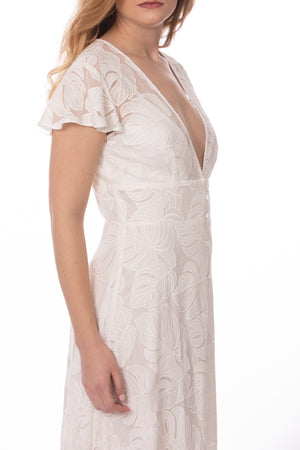 White Embroidered Maxi Dress Glow Fashion Boutique