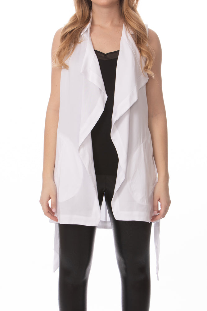 White Sleeveless Wrap Layering Piece Glow Fashion Boutique