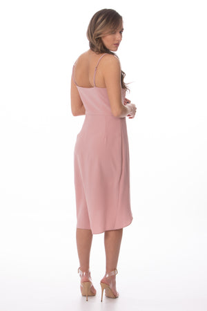 Load image into Gallery viewer, Blush Pink Sleeveless Tulip Dress Glow Fashion Boutique