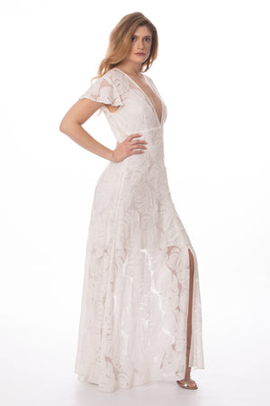 White Luxurious Maxi Dress Glow Fashion Boutique