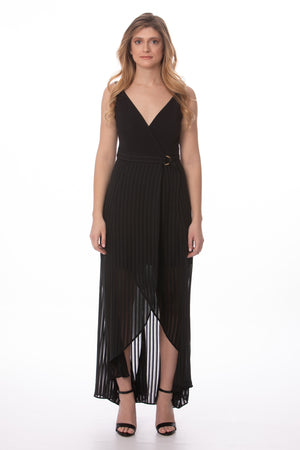 Load image into Gallery viewer, Black Sheer Sleeveless Maxi Dress Glow Fashion Boutique