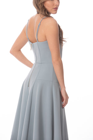 Blue Bridesmaid Petal Dress Glow Fashion Boutique