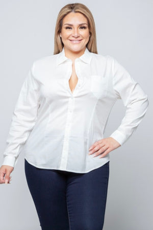 Glow Fashion Boutique Plus Size White Blouse