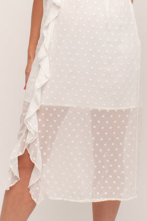 White Midi Bridal Shower Dress Glow Fashion Boutique