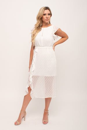 White Sheer Midi Dress Glow Fashion Boutique