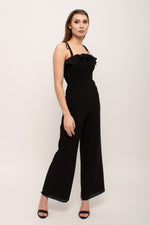 Off The Shoulder Flattering Black Jumpsuit Glow Fashion Boutique