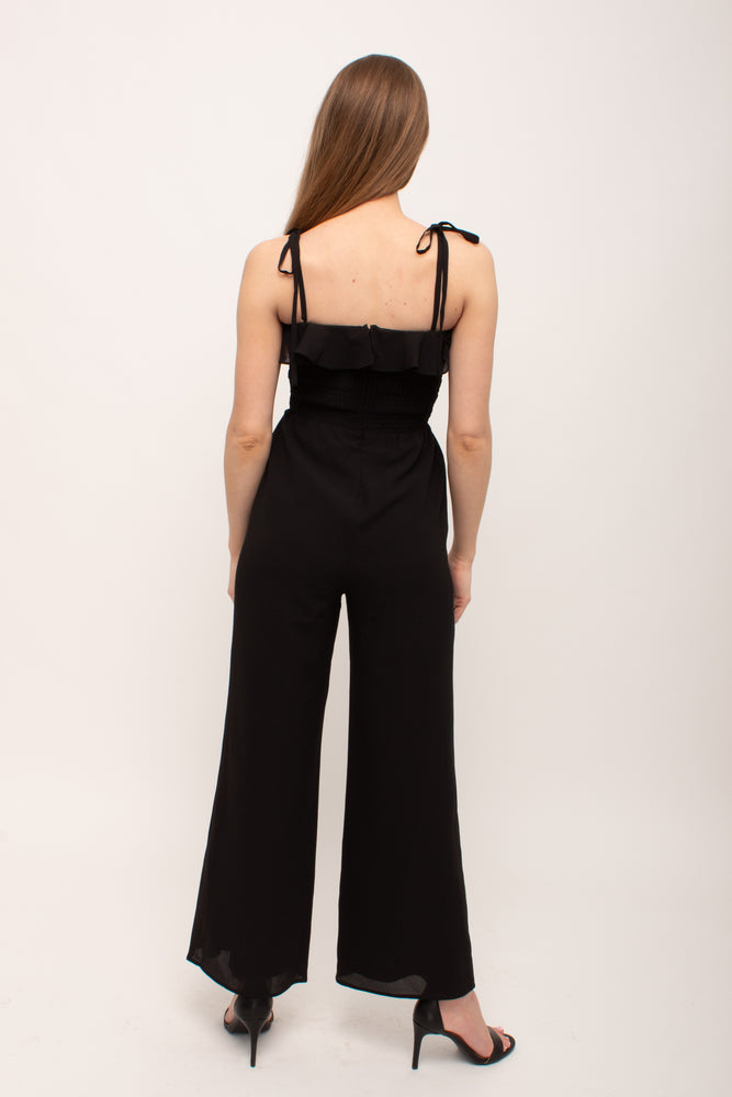 Load image into Gallery viewer, Flattering Wide Leg Black Jumpsuit Glow Fashion Boutique