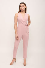 Pink Sleeveless Straight Leg Jumpsuit Glow Fashion Boutique