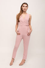 Pink Sleeveless Jumpsuit Glow Fashion Boutique