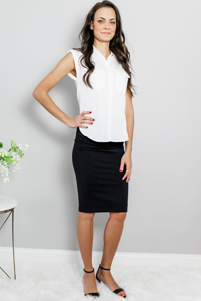 David Lerner Black Tube Pencil Skirt Glow Fashion Boutique