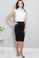 Black Tube Pencil Pencil Skirt David Lerner Glow Fashion Boutique