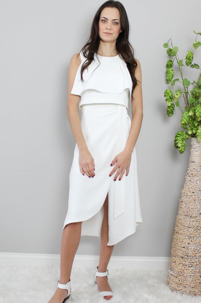 Glow Fashion White two piece business suit