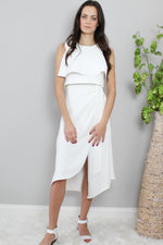 Glow Fashion white business suit