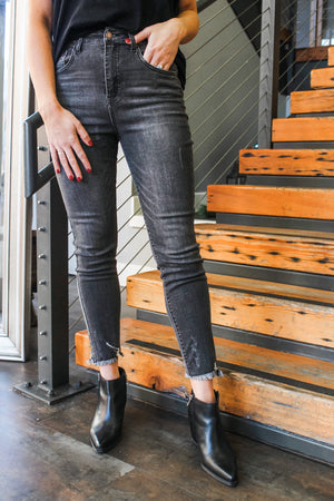 Glow Fashion Boutique Charcoal Grey Skinny Jeans