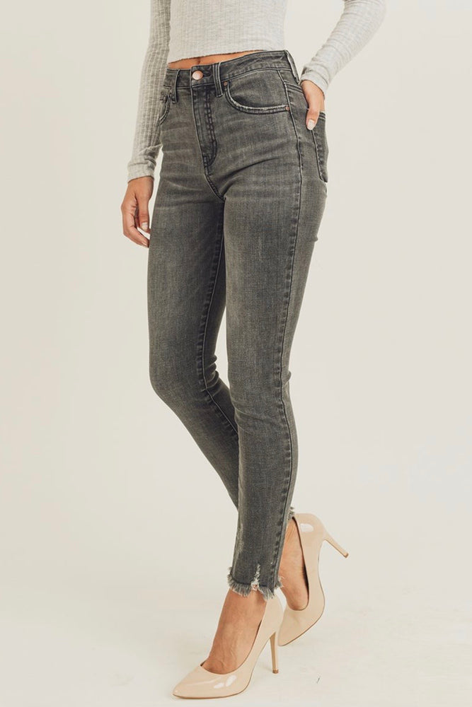 Load image into Gallery viewer, Glow Fashion Black Skinny Jeans