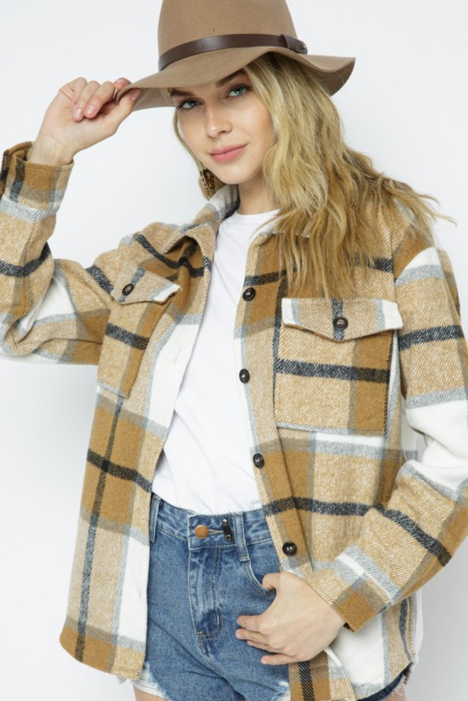 Load image into Gallery viewer, Glow Fashion Boutique Plaid Shacket