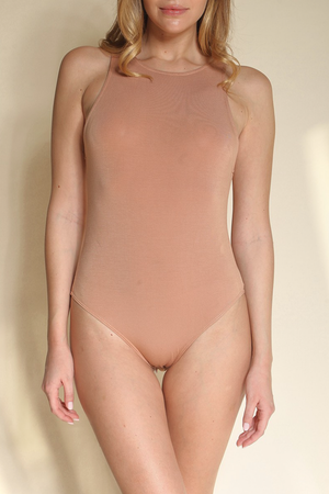 Halter Neck Bodysuit Bamboo Fabric