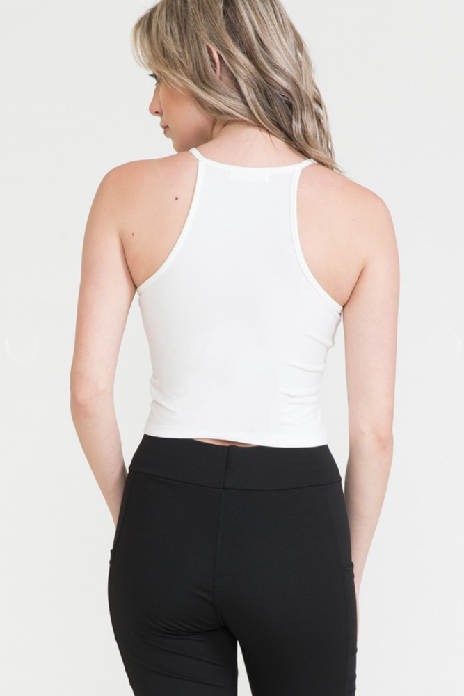 Load image into Gallery viewer, Glow Fashion Boutique White Crop Top