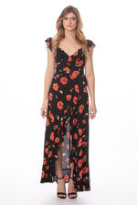Black Floral Maxi Dress Glow Fashion Boutique