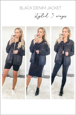 Glow Fashion Boutique How To Style Black Denim Jacket