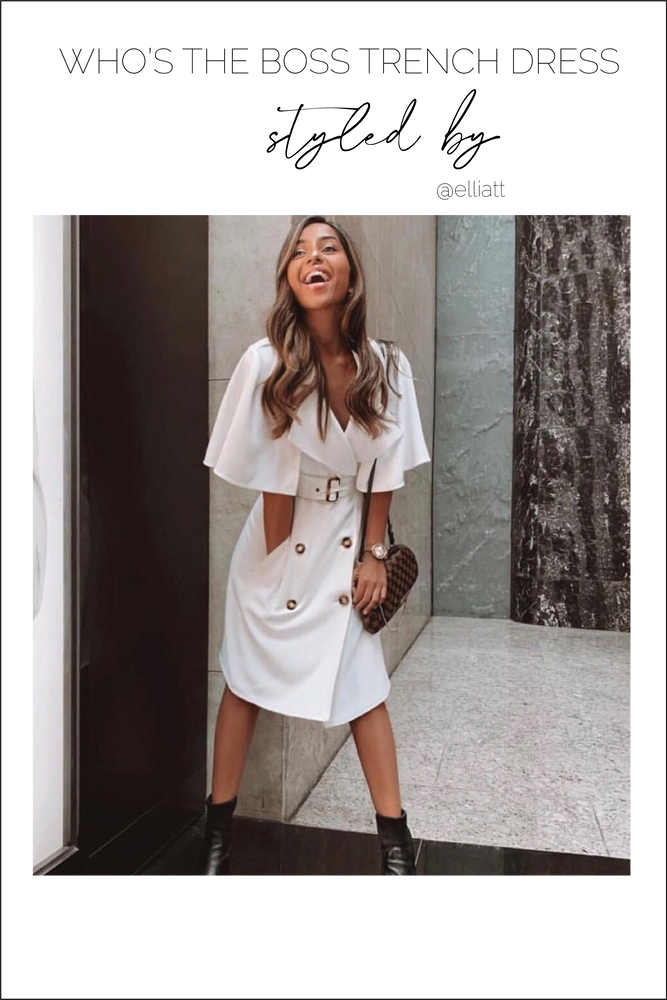 Load image into Gallery viewer, Glow Fashion Boutique white trench dress