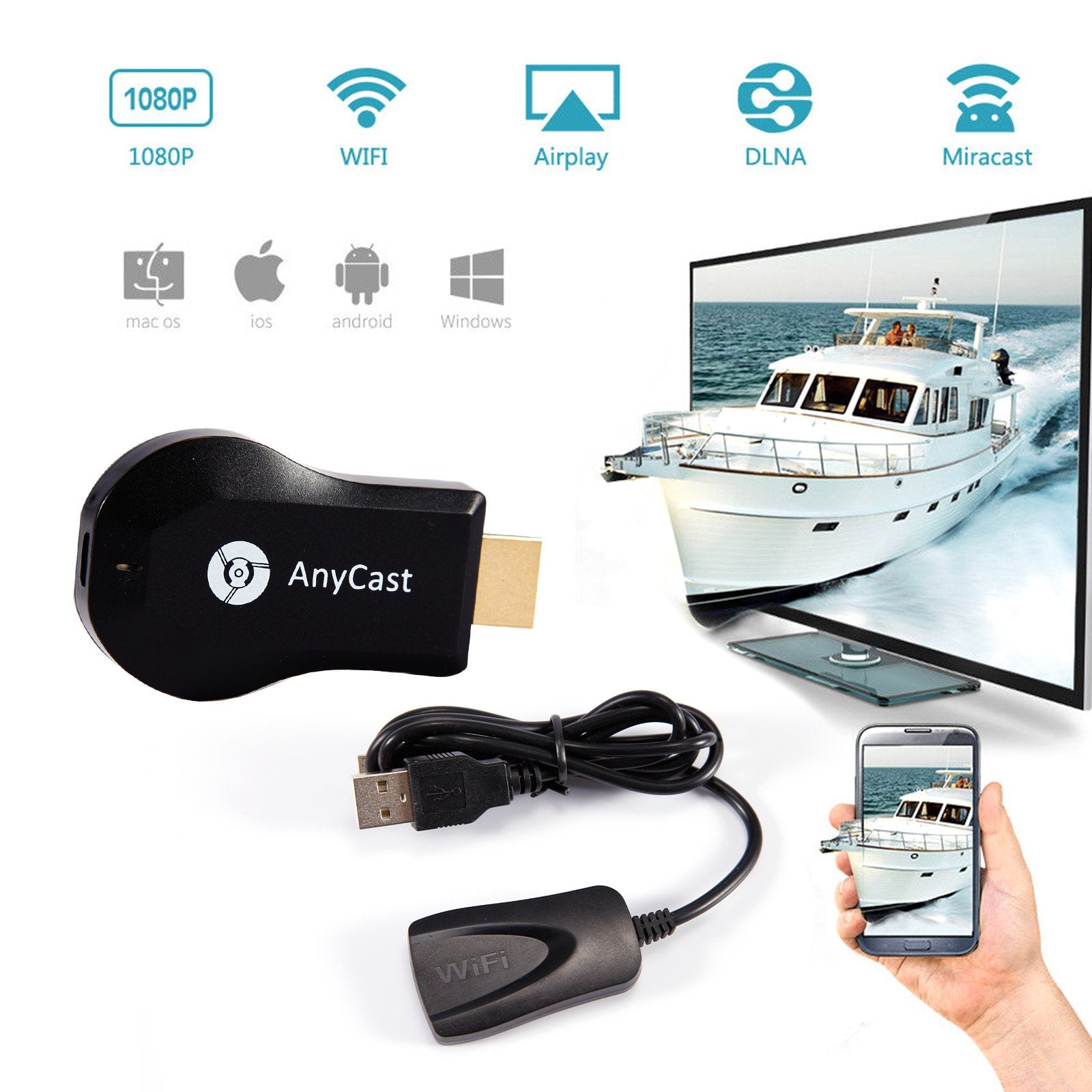 AnyCast Wifi Display Dongle – Shoppes Deal