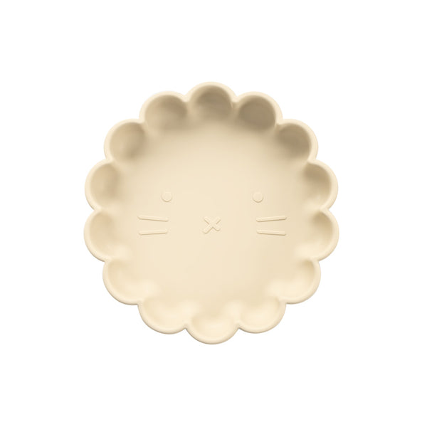 Silicone Suction Lion Plate | Ivory for kids and baby feeding
