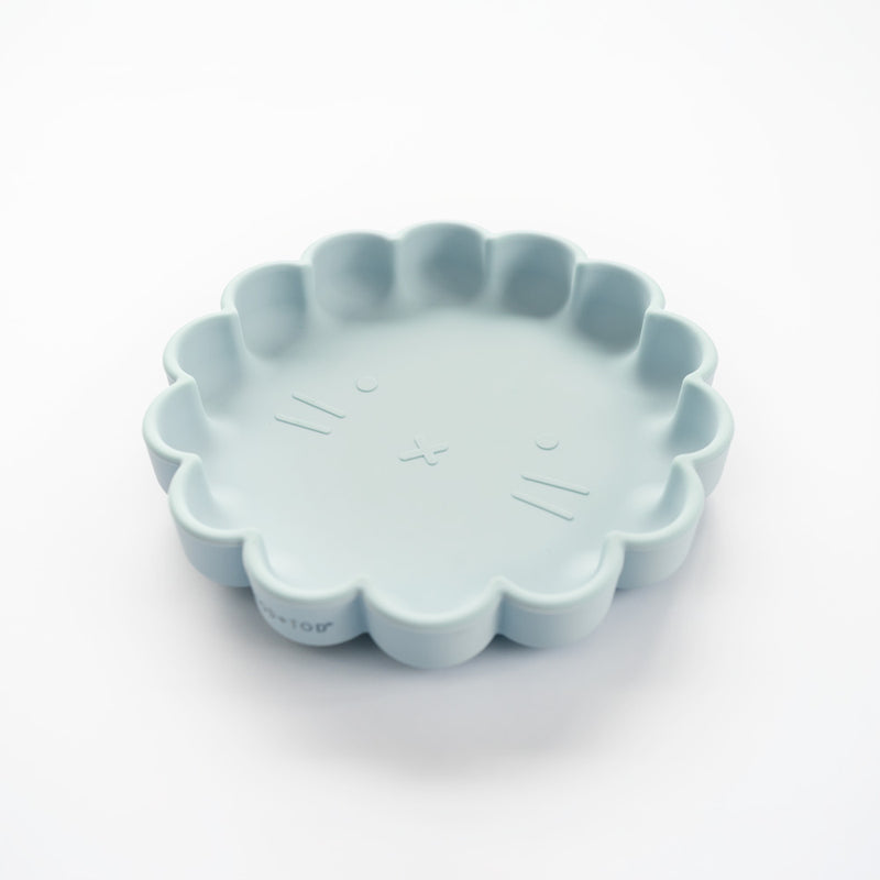 Silicone Suction Lion Plate | Sky Blue for kids and baby feeding