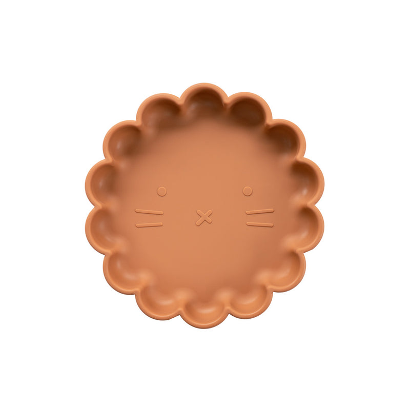 Silicone Suction Lion Plate | Cinnamon for kids and baby feeding