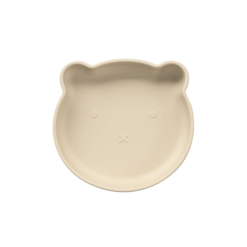 Silicone Suction Bear Plate | Ivory for kids and baby feeding