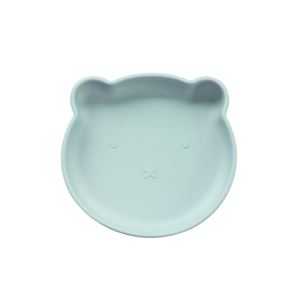 Silicone Suction Bear Plate | Sky Blue for kids and baby feeding
