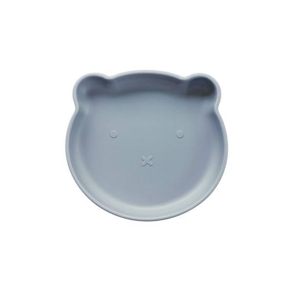Silicone Suction Bear Plate | Steel for kids and baby feeding