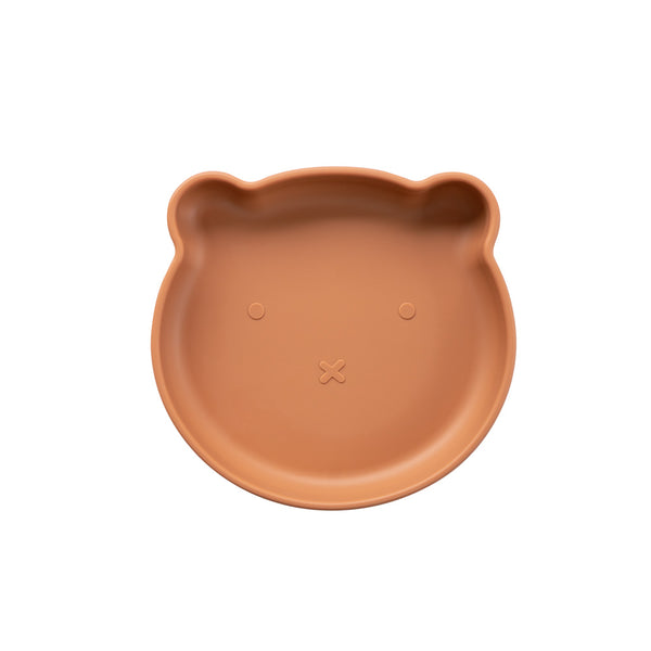 Silicone Suction Bear Plate | Cinnamon for kids and baby feeding