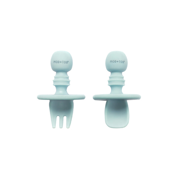 Silicone Cutlery Set | Sky Blue fo baby and kids feeding