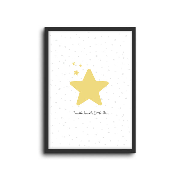 Twinkle Star wall print art for baby nursery or children's bedroom